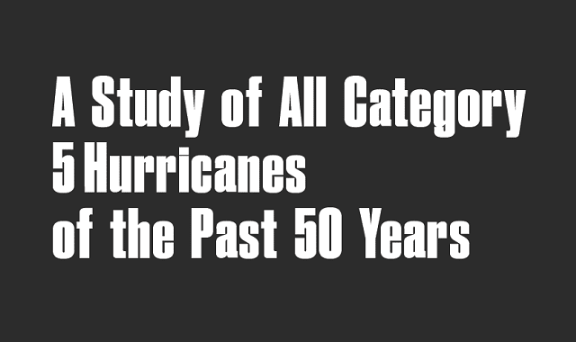 Every Category 5 Hurricane of the Past 50 Years