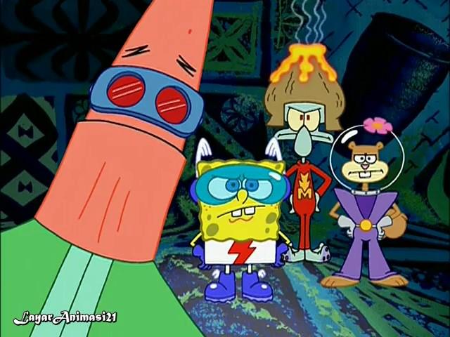 Spongebob Season 3 Episode 12B - MermaidMan and BernacleBoy V SD 480p Dub Indo