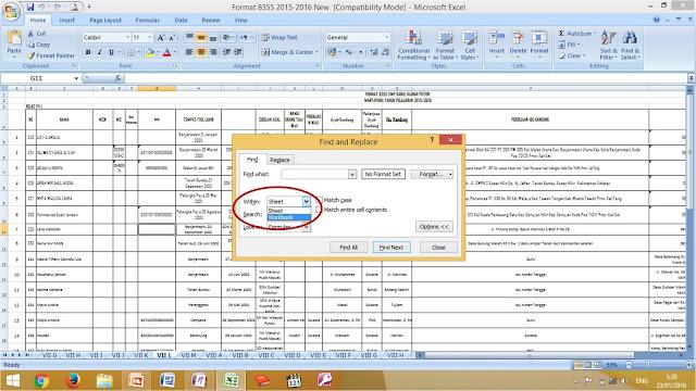 Cara Mudah Mencari Kata Dalam Seluruh Excel