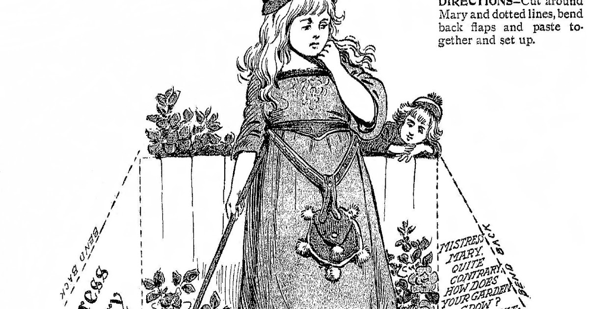 Mostly Paper Dolls Too!: MISTRESS MARY Cut-Out Doll