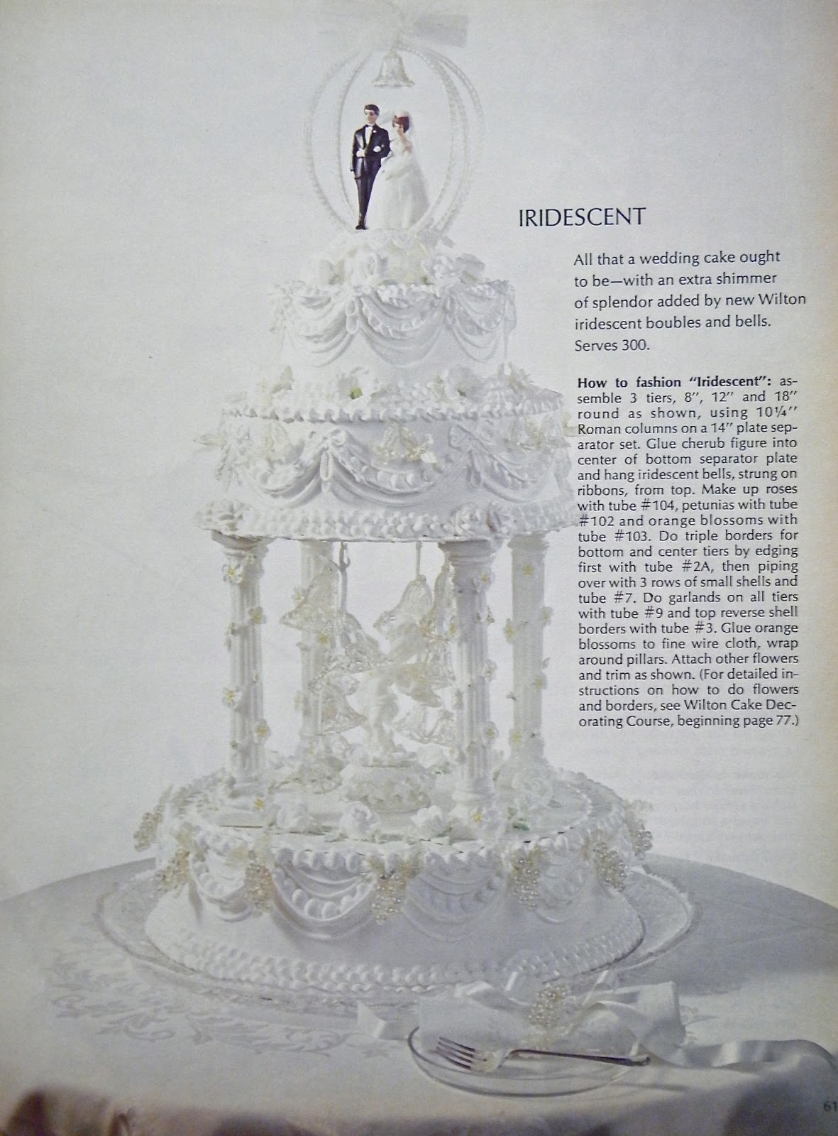 Vintage Wilton Wedding Cakes