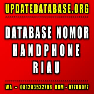Jual Database Nomor Handphone Riau