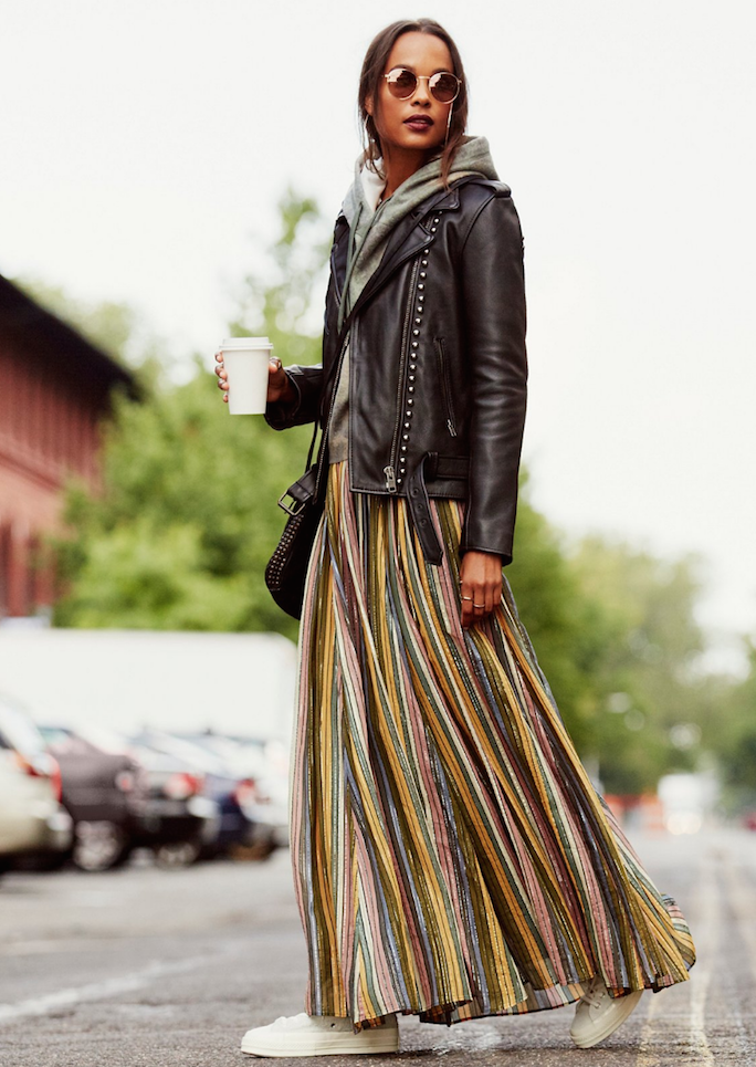 metallic-maxi-skirt
