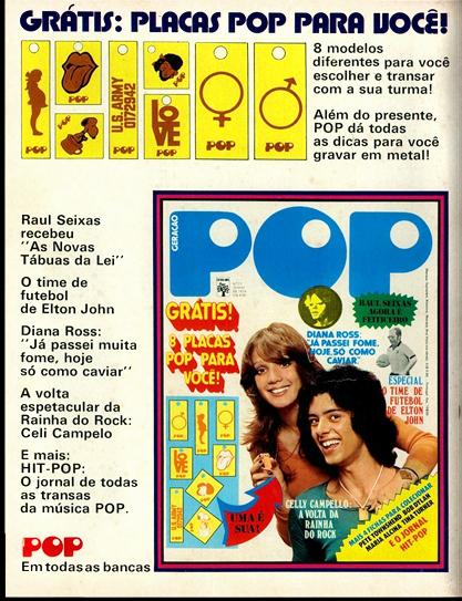 Propaganda antiga da Revista POP da Editora Abril na metade dos anos 70