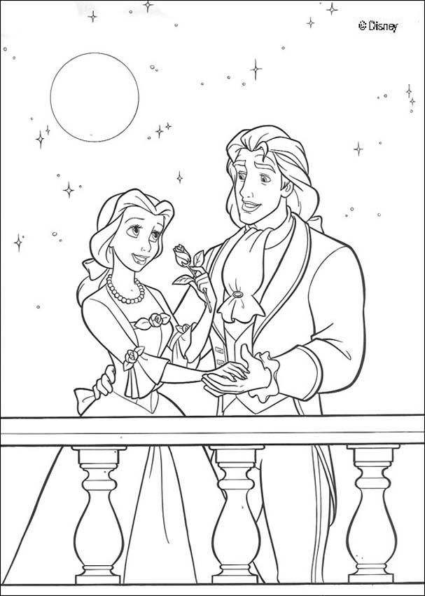 Big beast disney beauty and the coloring coloring pages for Beauty and the beast coloring pages