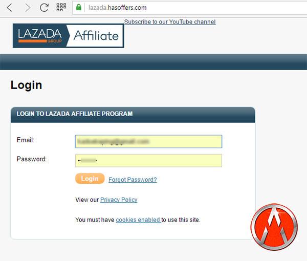jadikan link affiliate lazada