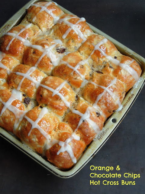 Orange & Chocolate Chips Hot Cross Buns