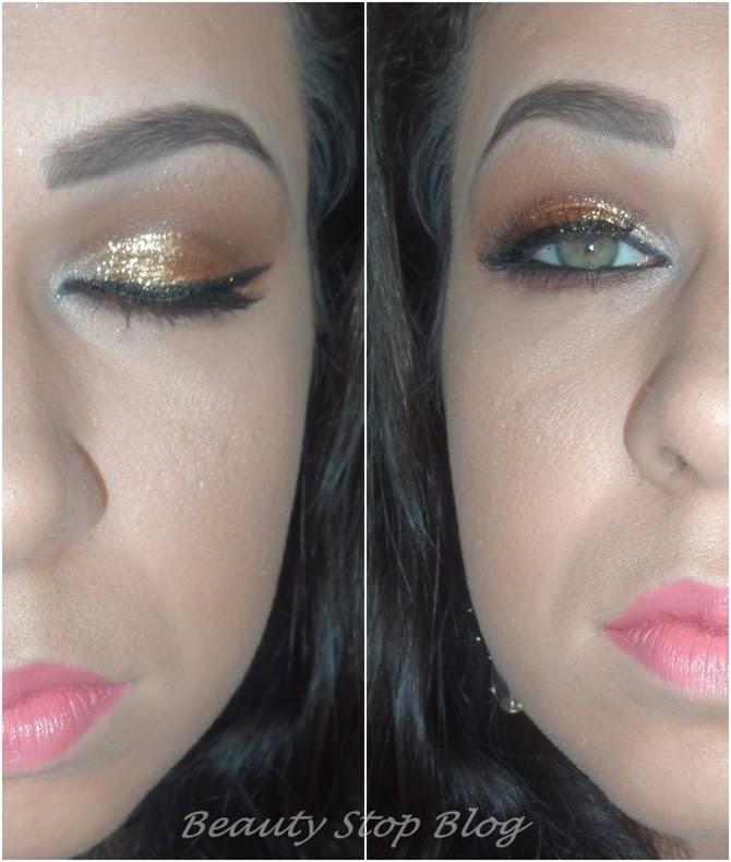 Tutorial Maquiagem dourado glitter dailus