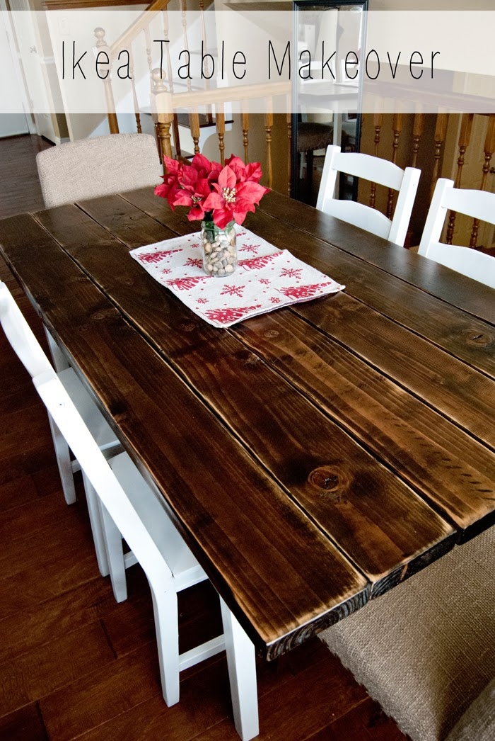 Dining Tables That Can Double As Desks: The Caldwells: Ikea Dining Table Makeover