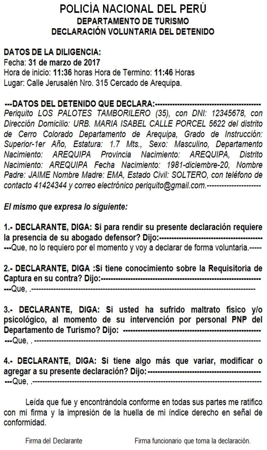QUE HACER EN CASO DE DETENER A UNA PERSONA CON REQUISITORIA ...
