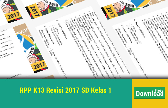 RPP K13 Revisi 2017 SD Kelas 1