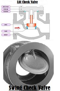 Lift Check Valve and Swing Check Valve