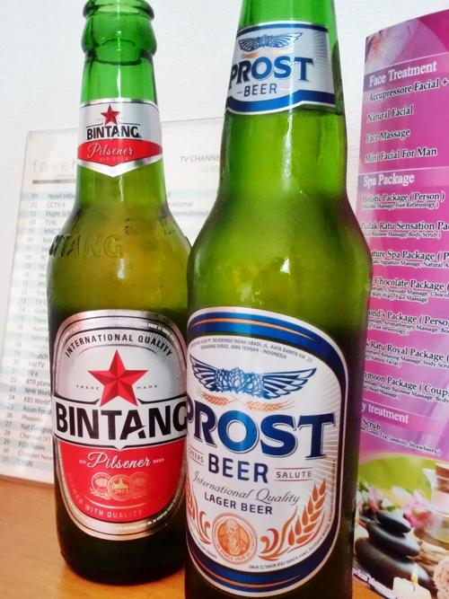 プロストっていう新しいビールが売ってたよ Bir Bintang or Bir Prost?