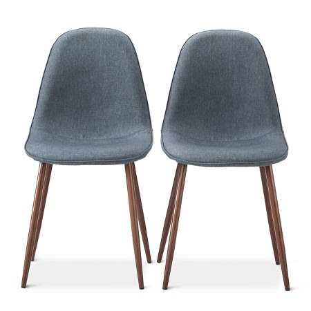 ... H. and I were browsing the aisles at Target, and we saw their Porter  Mid Century Dining Chairs - they were/are stylish, affordable, and narrow!
