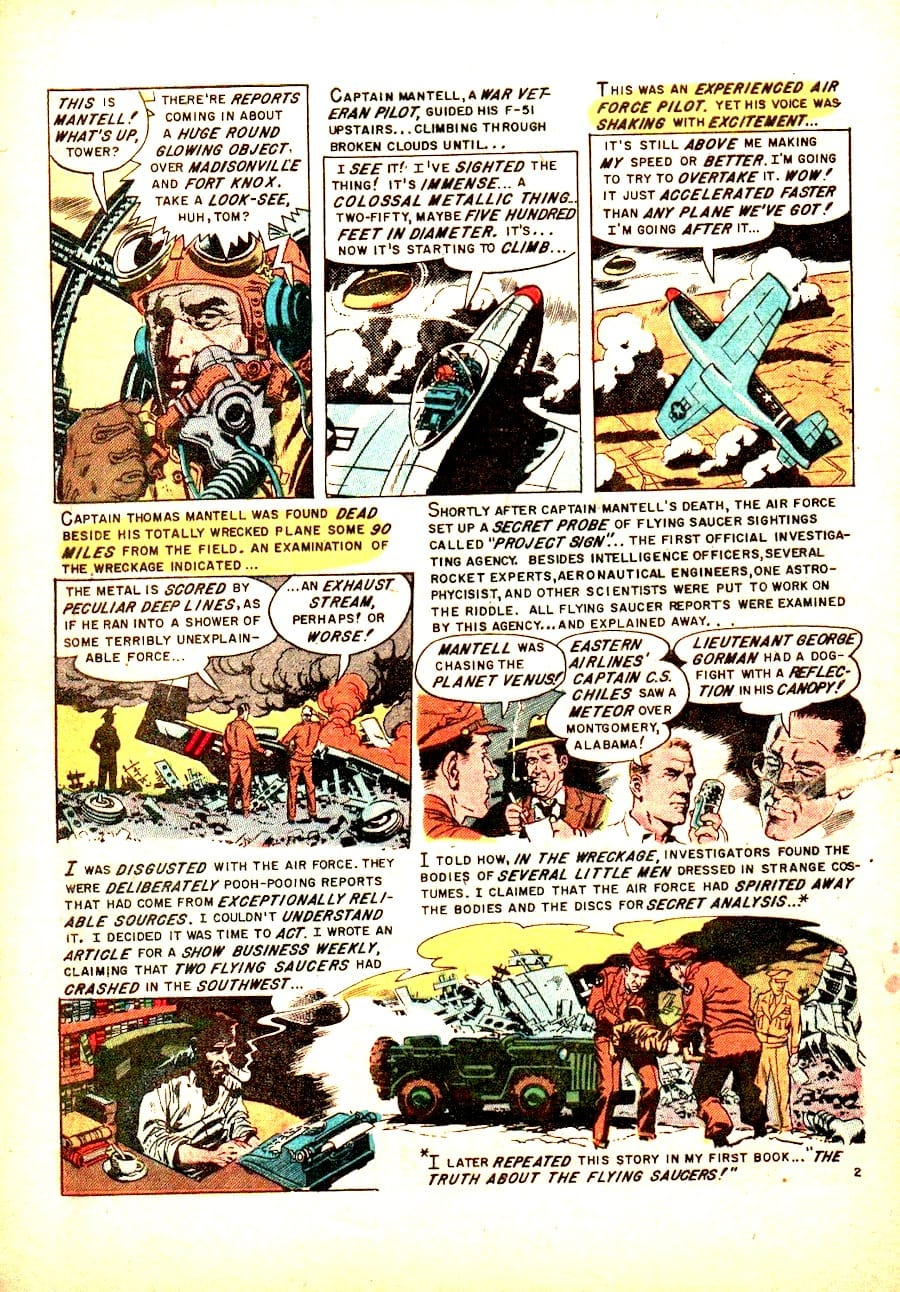 Weird Science-Fantasy #25 golden age EC science fiction 1950s comic book page art by Wally Wood