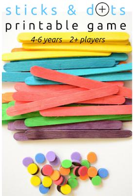 Practical Mom: Sticks & Dots Printable Game, Keep Kids Busy!