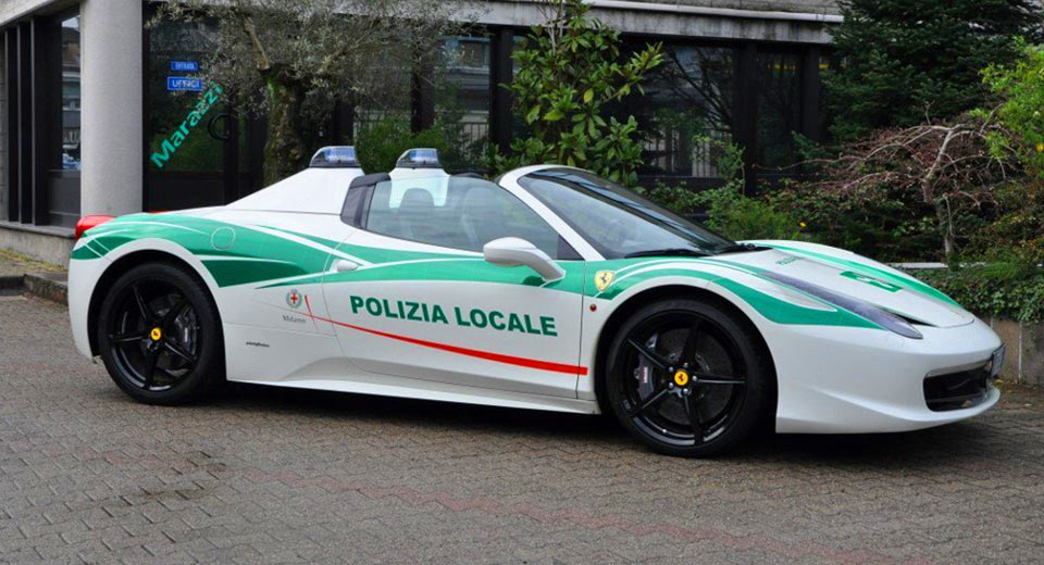 Police In Milan Are Using A 458 Spider Seized From Mafia