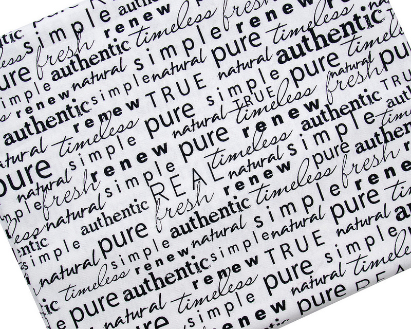 Authentic Etc - Word Play in Black on Cream by Sweetwater for Moda