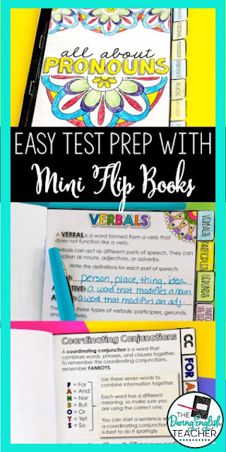 Why I Love Assigning Mini Flip Books: Teaching with mini flip books for easy and engaging test prep activities!