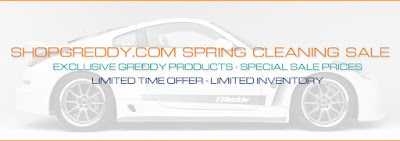 ShopGReddy Spring Cleaning Sale