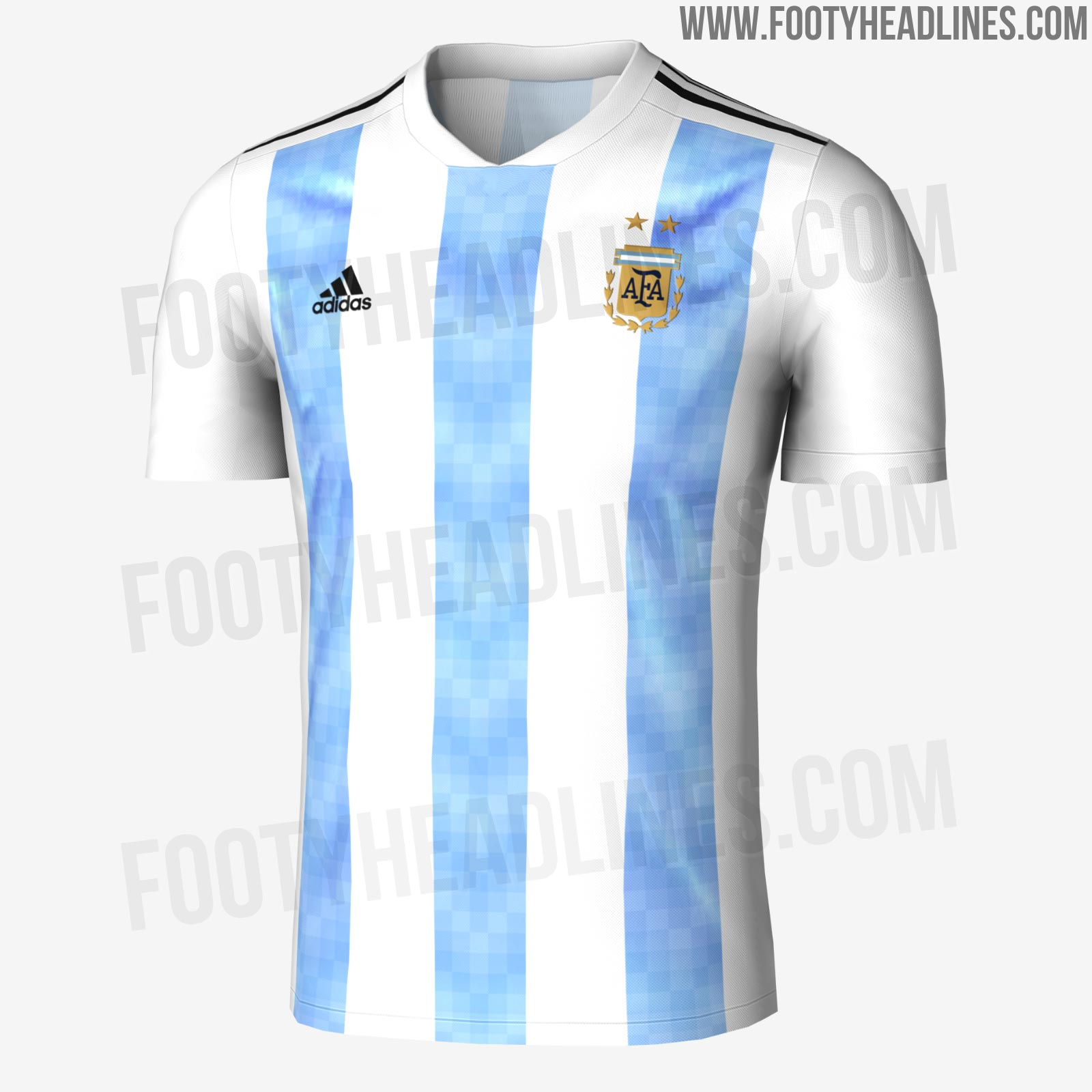 this draft shows the argentina 2018 world cup home kit