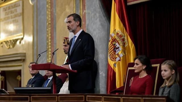 Rey de España pide unidad en medio de desafío secesionista catalán