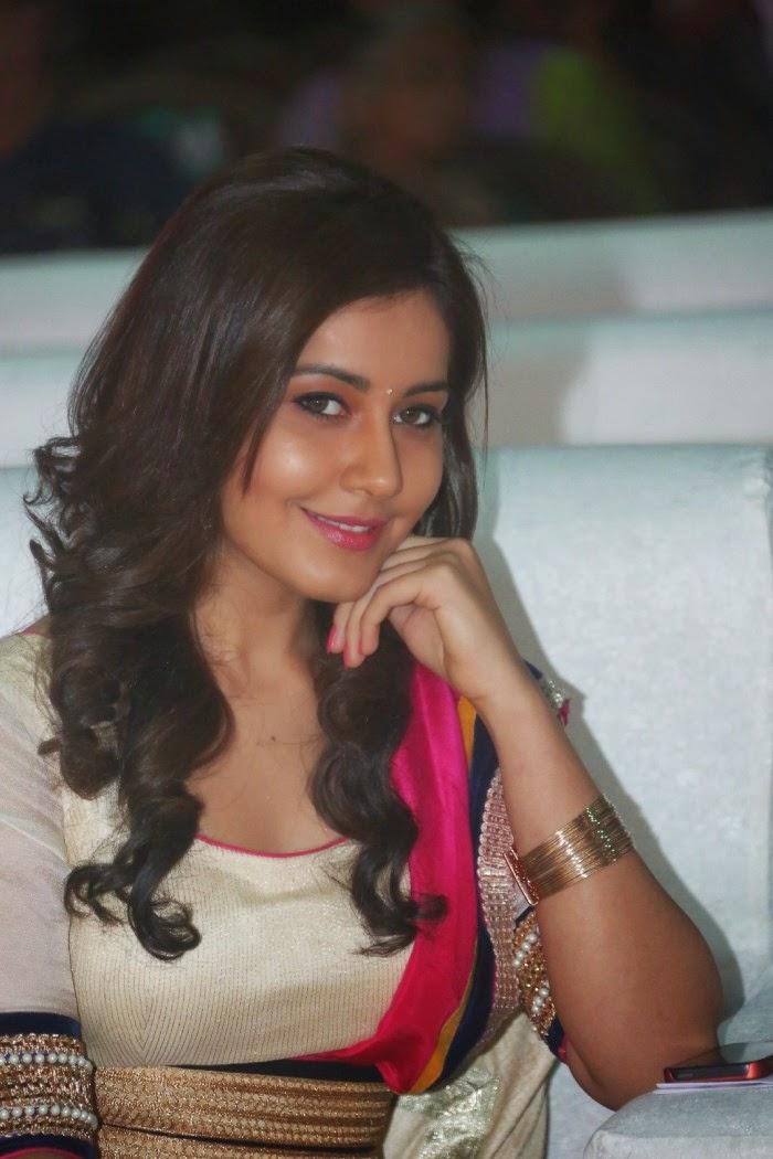 Rashi Khanna Stills at Oohalu Gusagusalade Movie Audio Launch