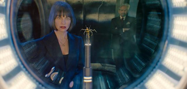 Evangeline Lilly şi Michael Douglas în Ant-Man