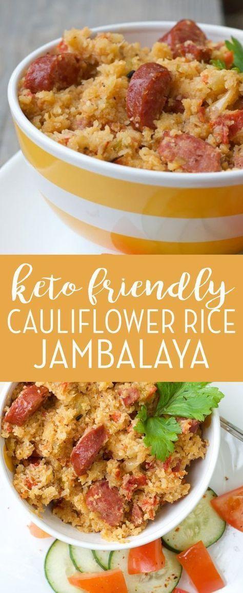 Keto Cauliflower Rice Jambalaya