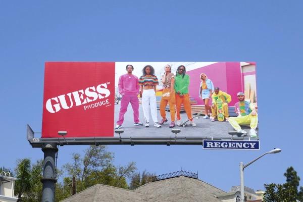 Guess Produce SS18 billboard