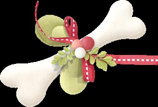 Clipart de Cachorritos para Navidad.