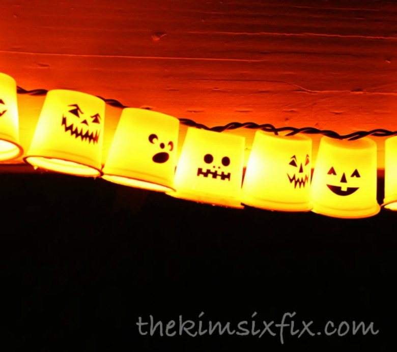 k cup ghost garland by the kim six fix - Ghost crafts for kids