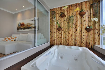 Sekat Ruangan Berbahan Bambu