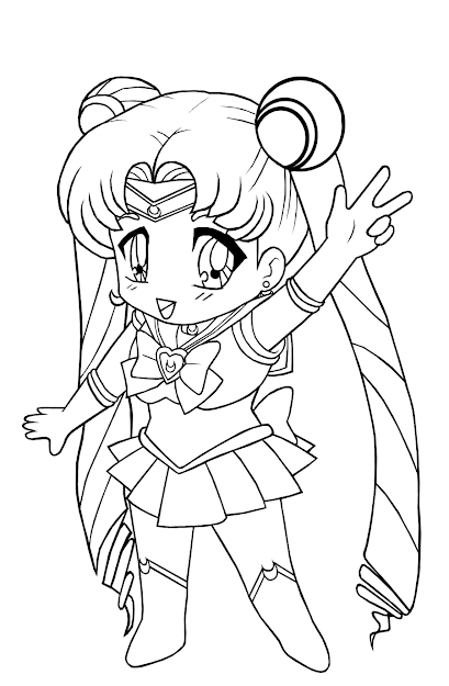 Kids Anime Girl Coloring Pages To Print