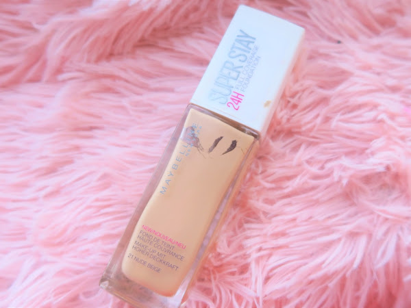 Review - Base Superstay 21 Nude Beige Maybelline