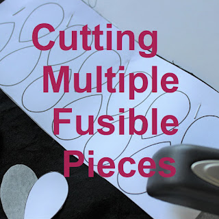 cutting multiple fusibles-applique-quilt tutorial