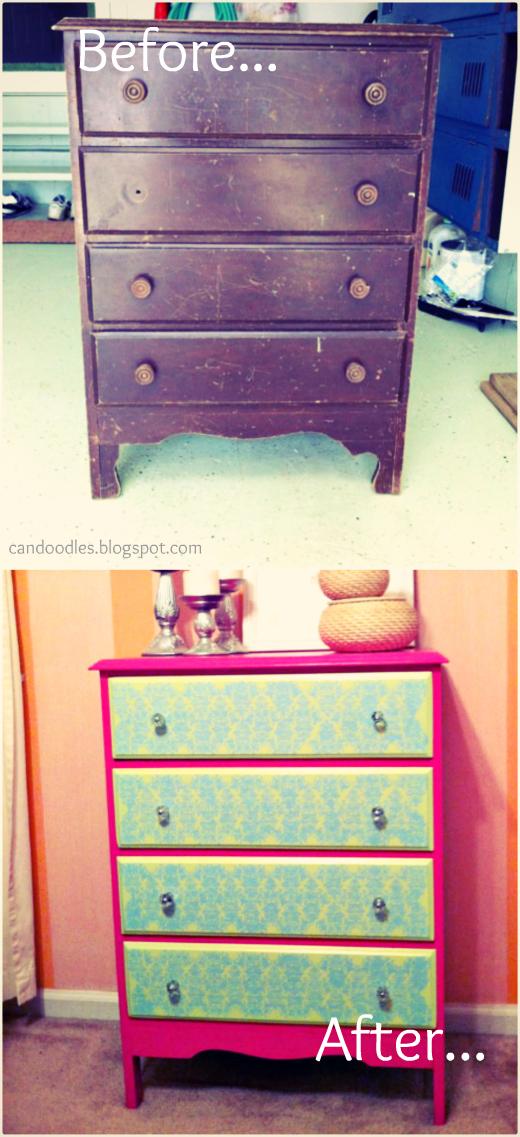Old Dresser Makeover Diy Chest Of Drawers