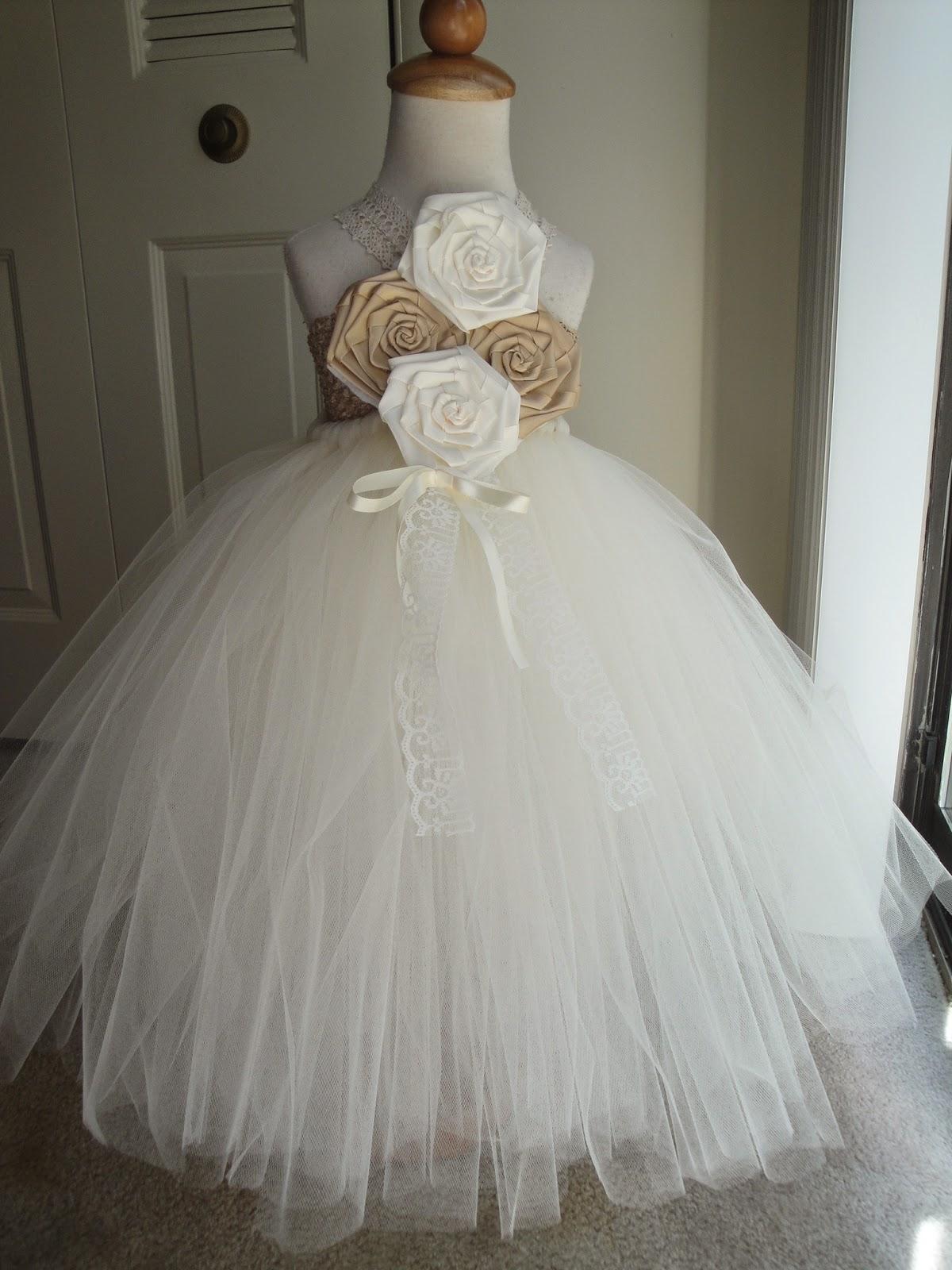 Hollywoodtutu dresses Rustic flower girl tutu dress