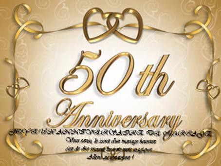 Carte Invitation Anniversaire Mariage 50 Ans