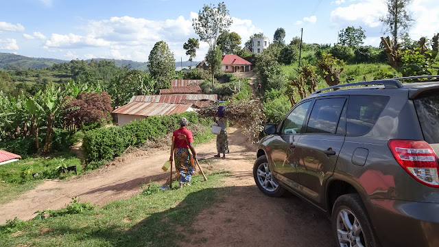 Rental Car at Lake Bunyonyi