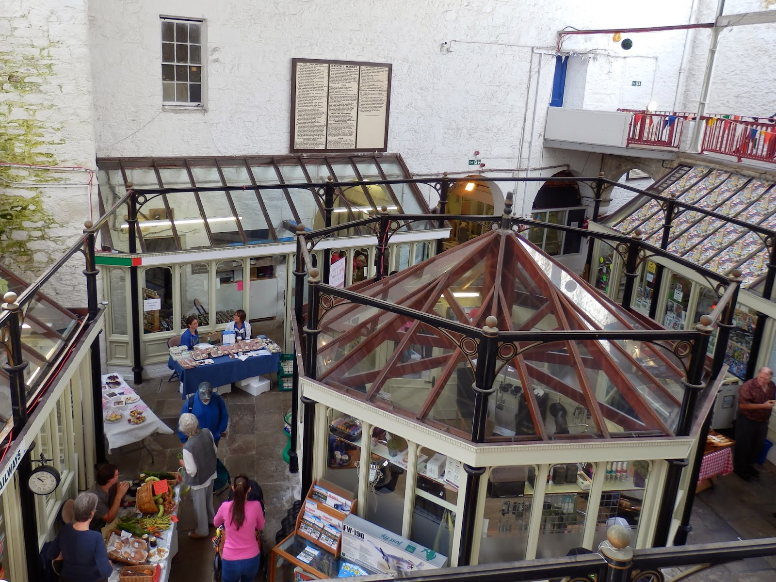 Inside Market House, Cornwall