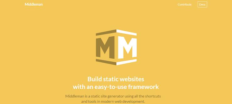 Middleman framework for static sites
