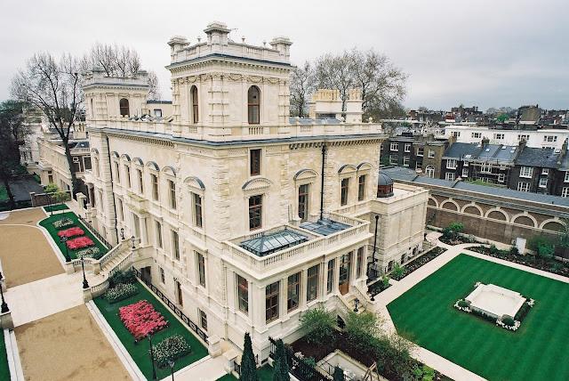 Kensington Palace Gardens, Londres, Reino Unido, casa de Roman Abramovich dueño del Chelsea Football Club