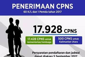 Pengumuman Penerimaan CPNS Th.2017 - PERIODE II