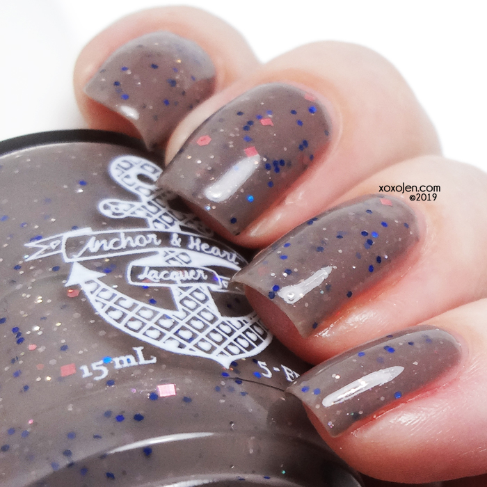 xoxoJen's swatch of Anchor & Heart Lacquer Frozen Mountain Dawn