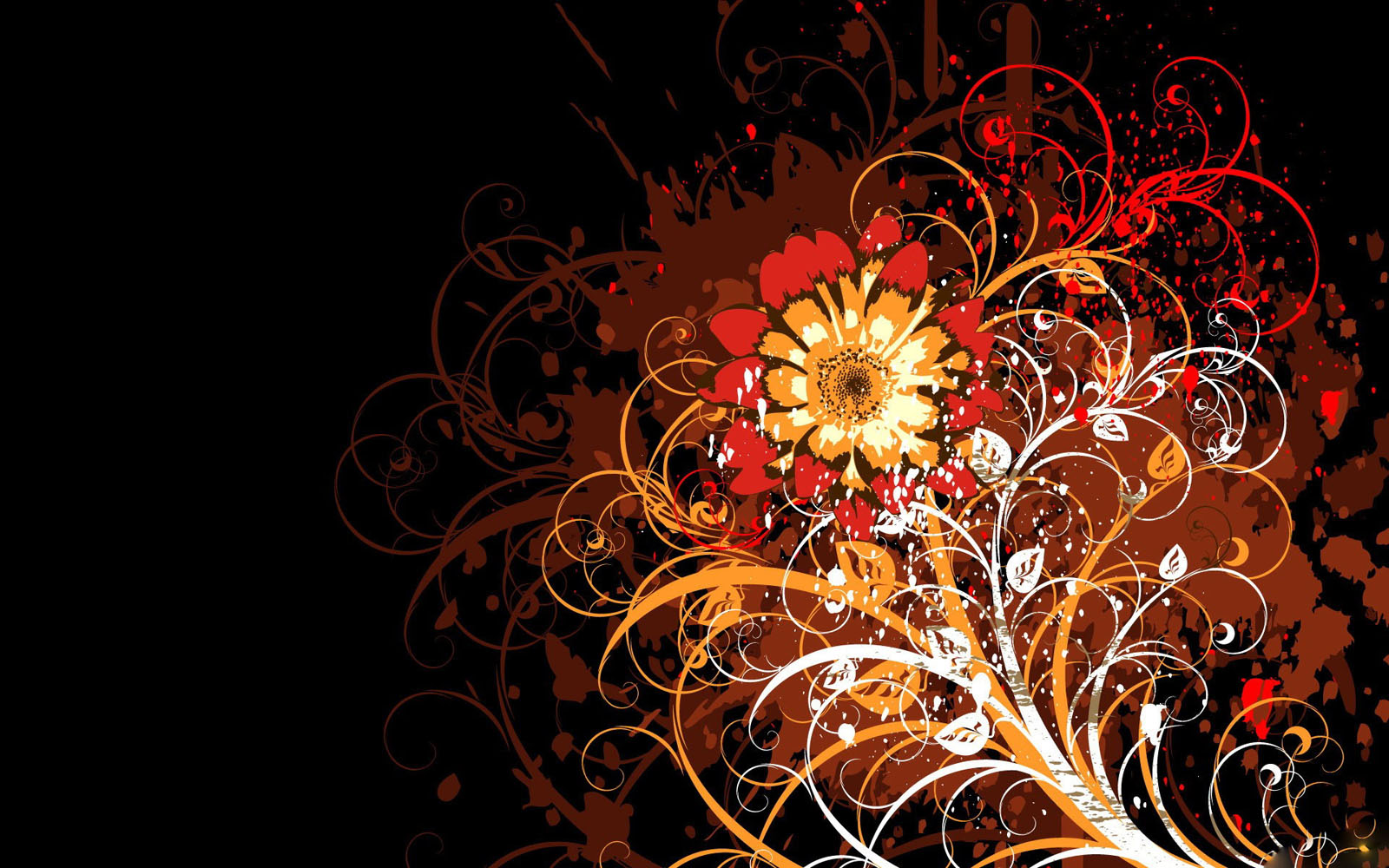 Wallpapers: Vector Flowers Desktop Wallpapers