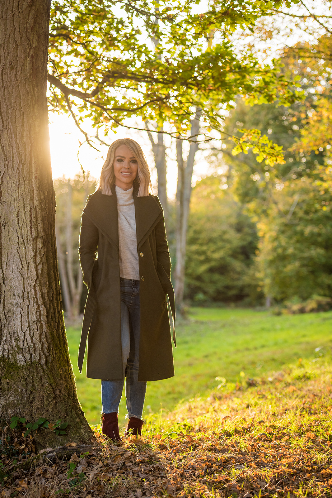 katie piper standing in a park