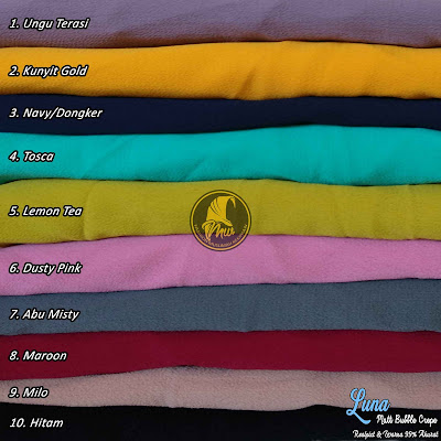 Khimar Bubble Crepe Model Pinguin Pet Antem