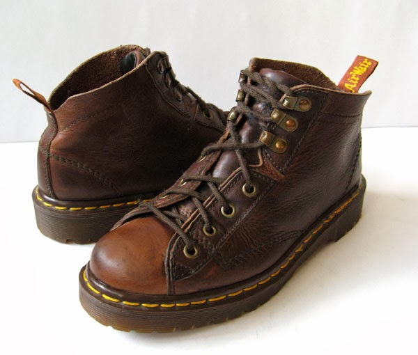 Doc Martens Dr Martens Brown Leather Vintage Boots Womens