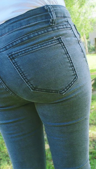 romwe, romwe.com, spodnie, Dark Grey Skinny Ankle Jeans, chińskie portale zakupowe, haul, chińskie sklepy, chińskie spodnie, tanie spodnie, recenzja spodnie